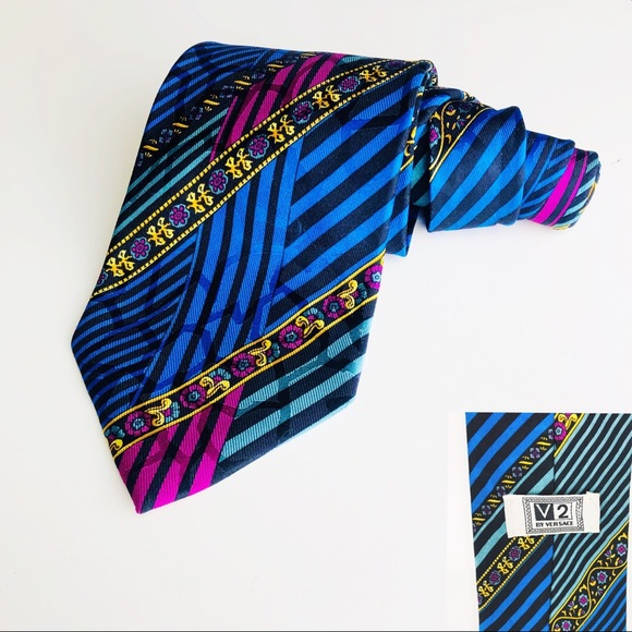 Versace Other - Mens Itailian silk v2 by Gianni Versace retro tie